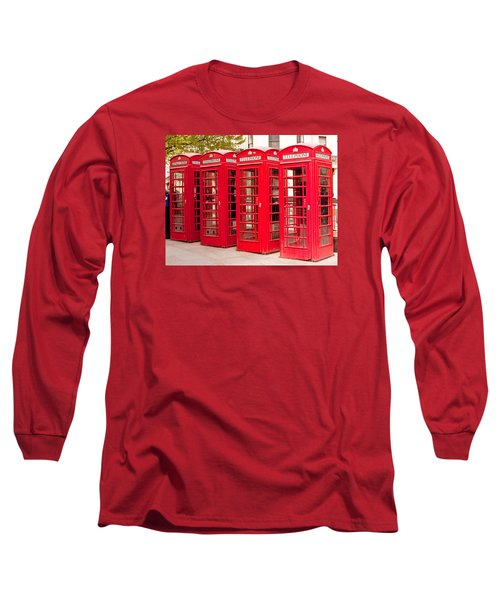 London's Red Phone Boxes Long Sleeve T-Shirt
