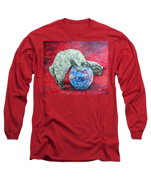 Lookin For Some Betta Kissin Long Sleeve T-Shirt by Gail Butler