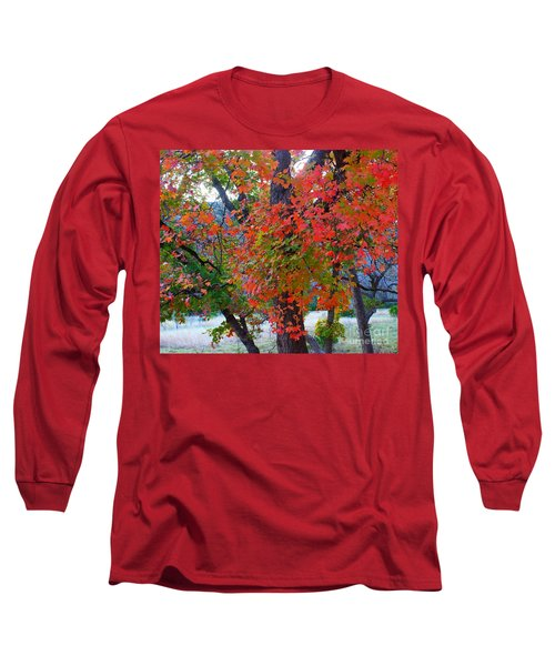 Lost Maples Fall Foliage Long Sleeve T-Shirt