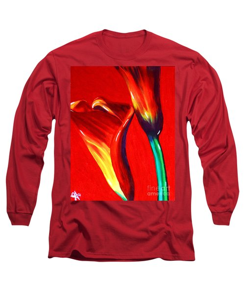 Love Lilies Long Sleeve T-Shirt by Jackie Carpenter