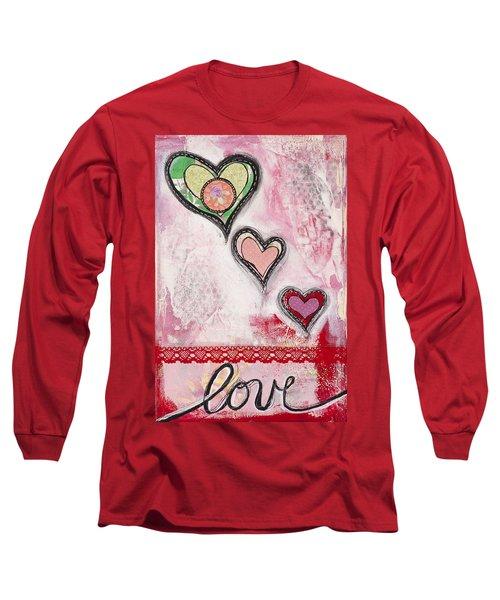 Long Sleeve T-Shirt featuring the mixed media Love  by Stanka Vukelic