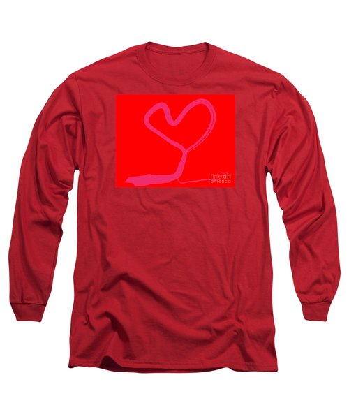 Long Sleeve T-Shirt featuring the painting Love Tree by Go Van Kampen