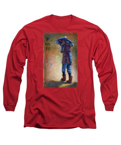 Lucky Red Boots Long Sleeve T-Shirt by Retta Stephenson