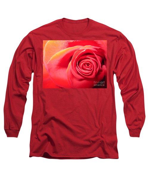 Luminous Red Rose 1 Long Sleeve T-Shirt