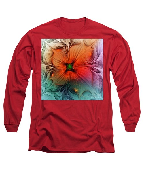 Luxury Blossom Dressed In Velvet And Silk Long Sleeve T-Shirt