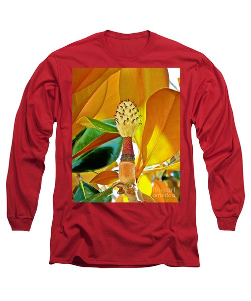 Long Sleeve T-Shirt featuring the photograph Magnolia Flower by Olga Hamilton