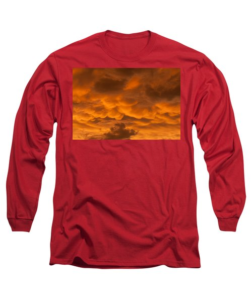 Mammatus Clouds Long Sleeve T-Shirt by Paul Rebmann