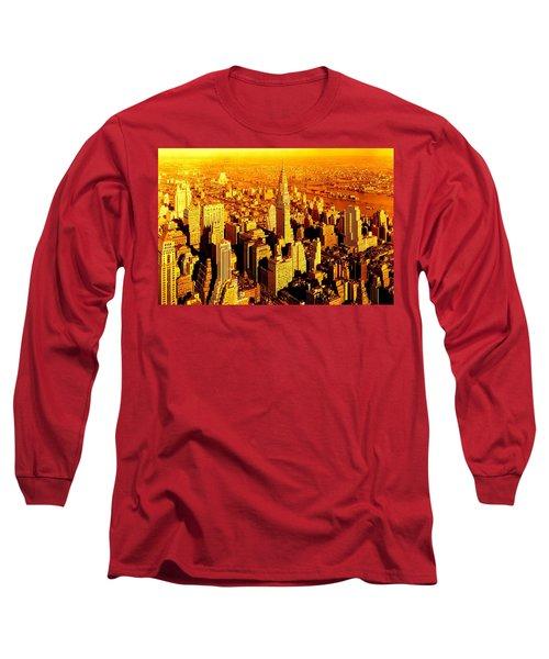 Manhattan And Chrysler Building Long Sleeve T-Shirt