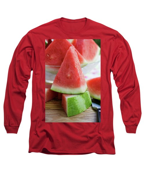 Many Pieces Of Watermelon Long Sleeve T-Shirt