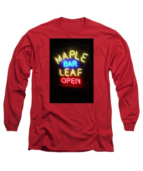 Maple Leaf Bar Long Sleeve T-Shirt by Deborah Lacoste