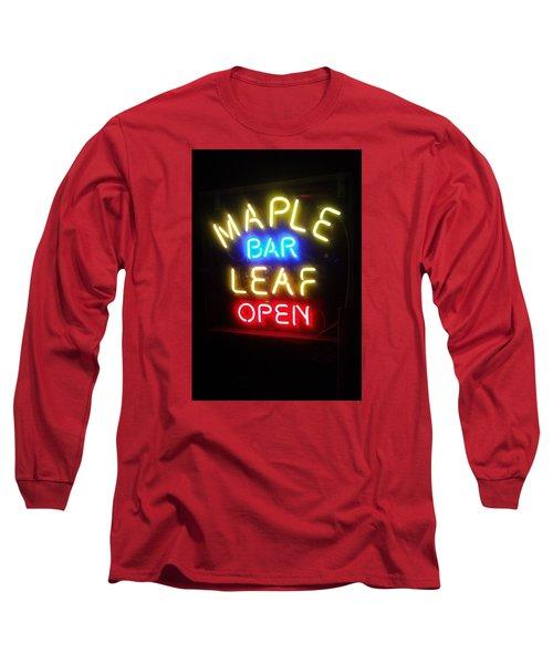Maple Leaf Bar Long Sleeve T-Shirt
