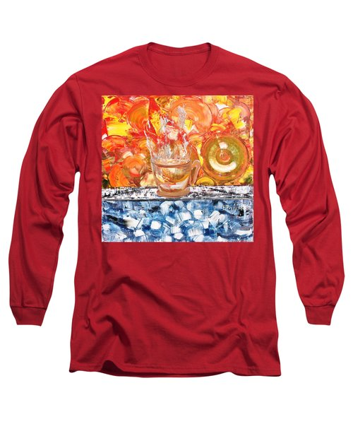 Long Sleeve T-Shirt featuring the painting Matinal by Evelina Popilian