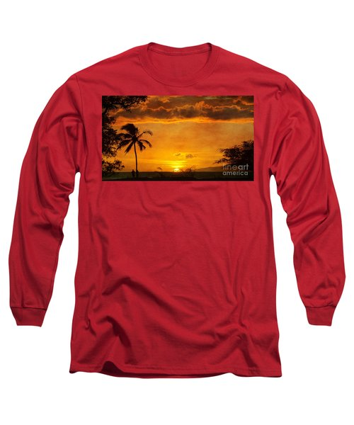 Maui Sunset Dream Long Sleeve T-Shirt by Peggy Hughes