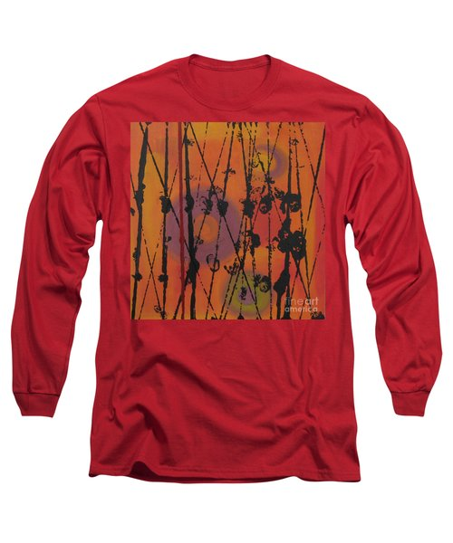 Long Sleeve T-Shirt featuring the painting Maya 1 by Mini Arora