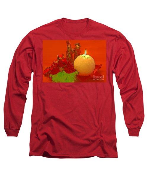 Merry Christmas Long Sleeve T-Shirt by Teresa Zieba