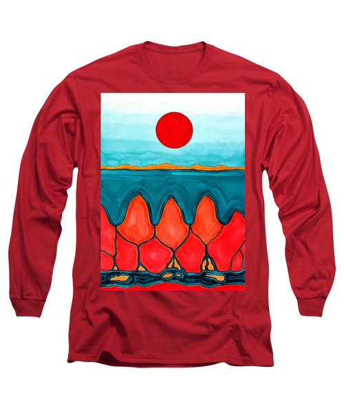 Mesa Canyon Rio Original Painting Long Sleeve T-Shirt