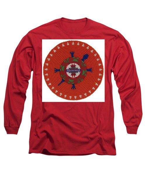 Meskwaki Orange Long Sleeve T-Shirt