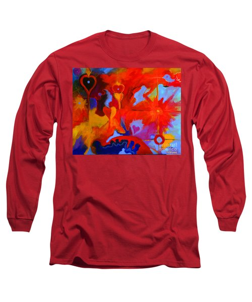 Long Sleeve T-Shirt featuring the painting Message Of Love by Alison Caltrider