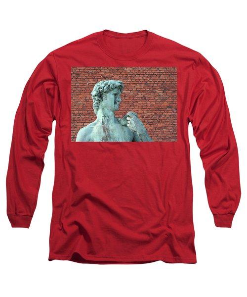 Michelangelos David Long Sleeve T-Shirt