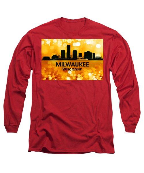 Milwaukee Wi 3 Long Sleeve T-Shirt by Angelina Vick
