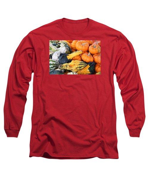 Long Sleeve T-Shirt featuring the photograph Mini Pumpkins And Gourds by Cynthia Guinn