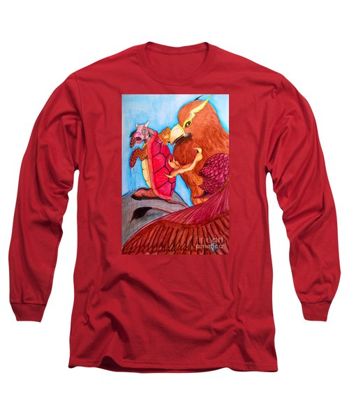 Mock Turtle And Griffon Long Sleeve T-Shirt by Justin Moore
