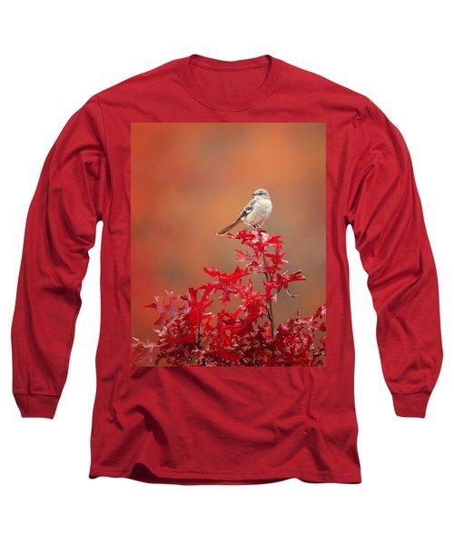 Mockingbird Autumn Long Sleeve T-Shirt by Bill Wakeley