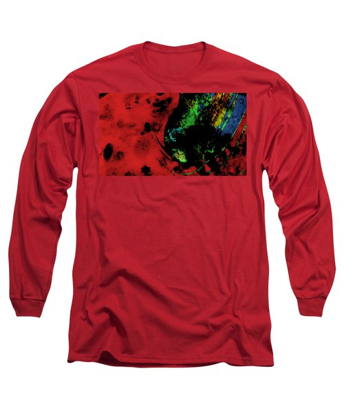 Long Sleeve T-Shirt featuring the mixed media Modern Squid by Ally  White