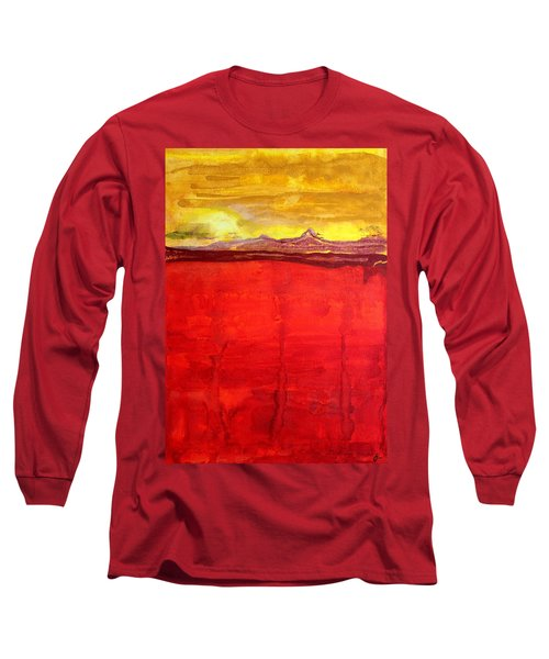 Mojave Dawn Original Painting Long Sleeve T-Shirt