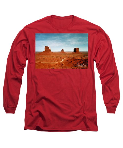 Long Sleeve T-Shirt featuring the photograph Monument Valley by The Art of Alice Terrill
