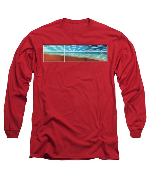 Moonset Triptych Long Sleeve T-Shirt