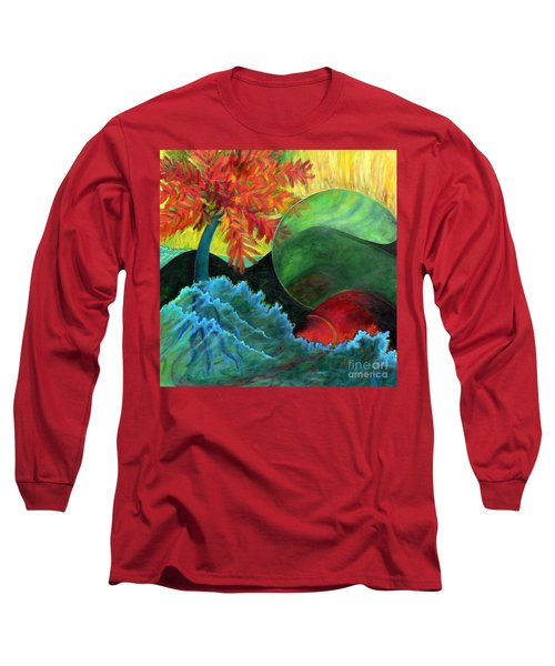 Moonstorm Long Sleeve T-Shirt by Elizabeth Fontaine-Barr