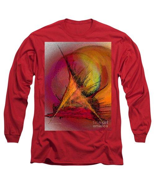Moonstruck-abstract Art Long Sleeve T-Shirt