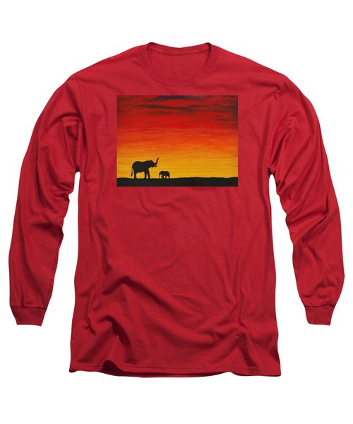 Mother Africa 1 Long Sleeve T-Shirt by Michael Cross