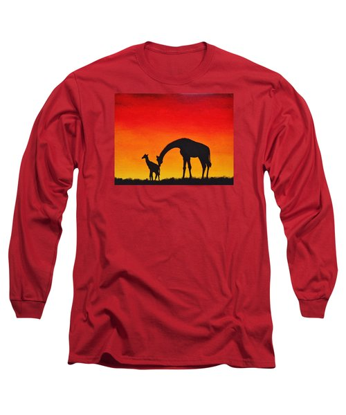 Mother Africa 2 Long Sleeve T-Shirt by Michael Cross