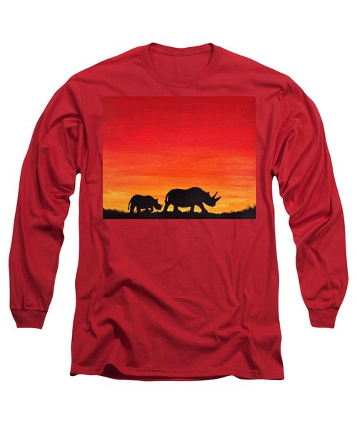Mother Africa 5 Long Sleeve T-Shirt by Michael Cross