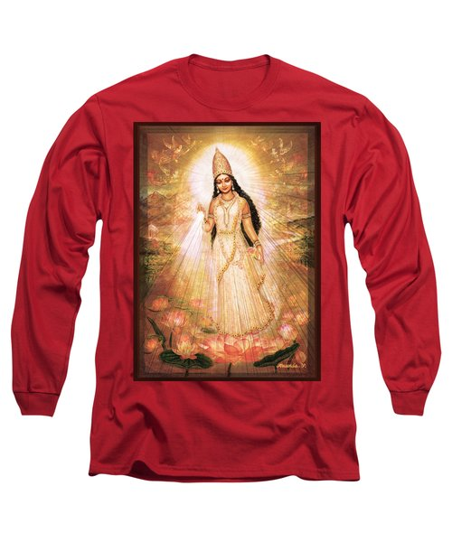 Mother Goddess With Angels Long Sleeve T-Shirt