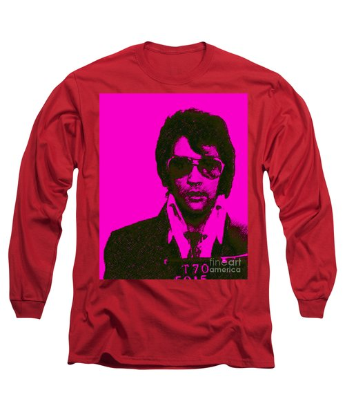 Mugshot Elvis Presley M80 Long Sleeve T-Shirt