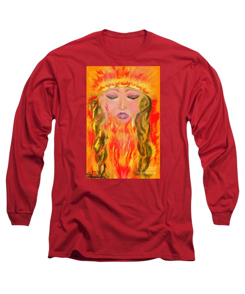 My Burning Within Long Sleeve T-Shirt by Lori  Lovetere
