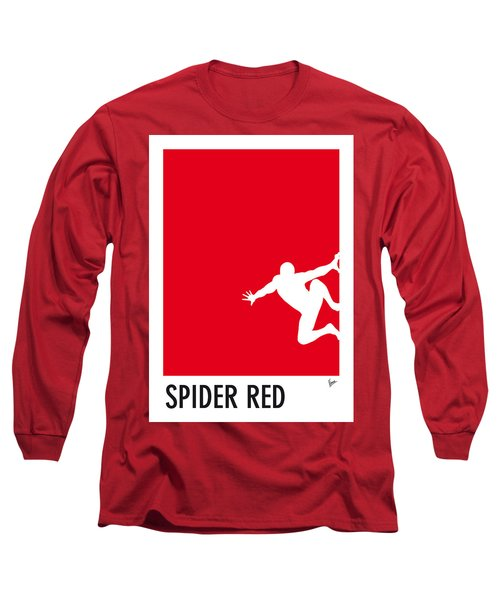 My Superhero 04 Spider Red Minimal Poster Long Sleeve T-Shirt