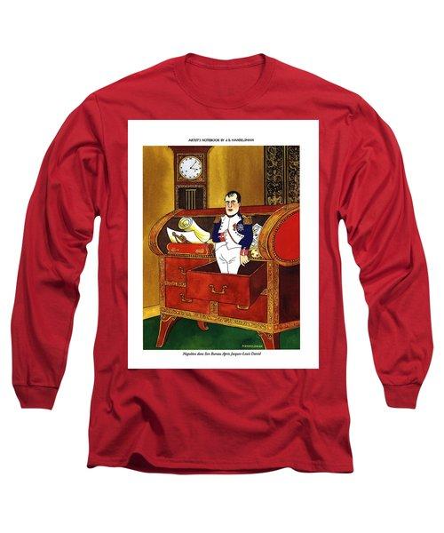 Napoleon Dans Son Bureau Apres Jacques-louis David Long Sleeve T-Shirt