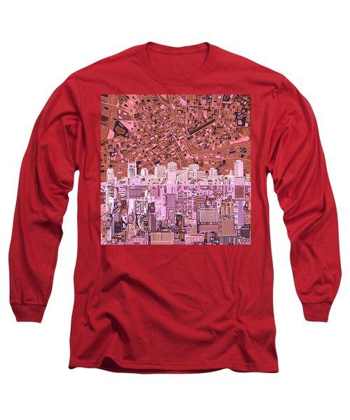Nashville Skyline Abstract 7 Long Sleeve T-Shirt