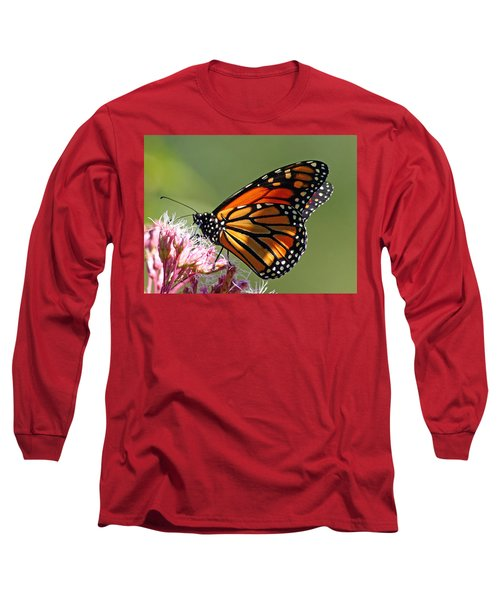 Long Sleeve T-Shirt featuring the photograph Nectaring Monarch Butterfly by Debbie Oppermann