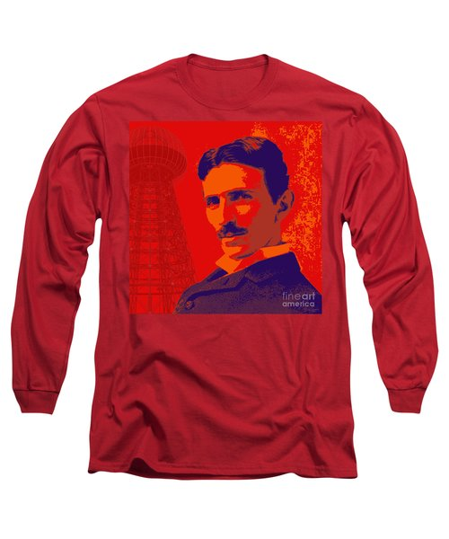 Nikola Tesla #1 Long Sleeve T-Shirt