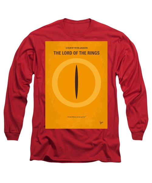No039 My Lord Of The Rings Minimal Movie Poster Long Sleeve T-Shirt