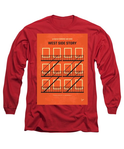 No387 My West Side Story Minimal Movie Poster Long Sleeve T-Shirt