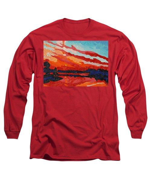 November Sunset Long Sleeve T-Shirt by Phil Chadwick