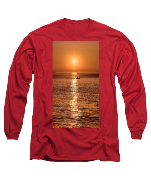 Ocean Sunrise At Montauk Point Long Sleeve T-Shirt