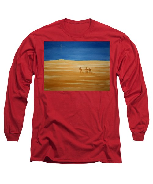Oh Holy Night Long Sleeve T-Shirt by Stacy C Bottoms