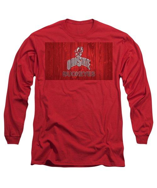 Ohio State Buckeyes Barn Door Long Sleeve T-Shirt